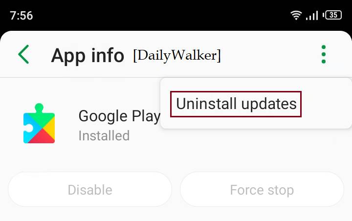 google play services keeps stopping, reset google play services